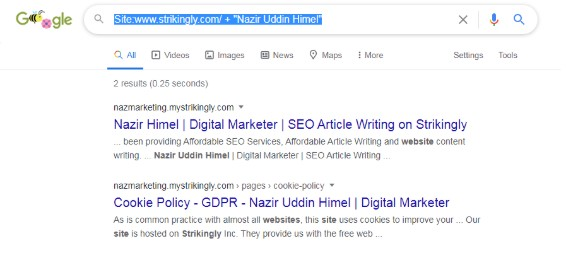 nazim google search result.s